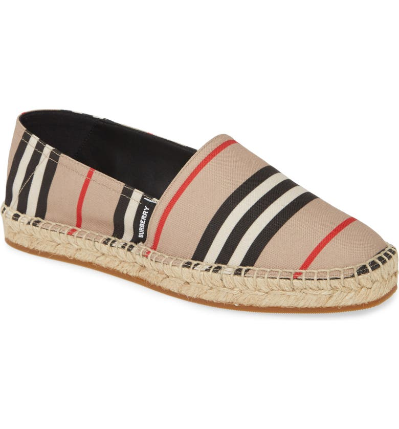 BURBERRY Alport Icon Stripe Espadrille, Main, color, ARCHIVE BEIGE