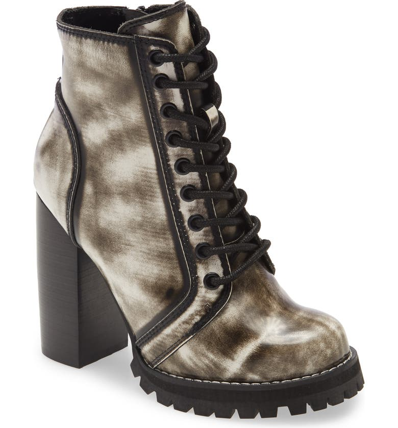 JEFFREY CAMPBELL Legion Lace-Up Boot, Main, color, WHITE RUB OFF