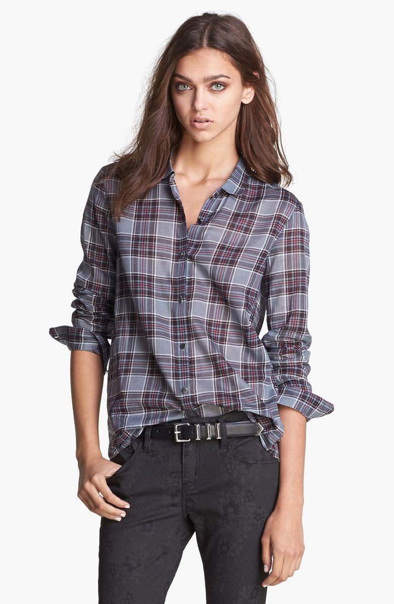 THE KOOPLES Sheer Flannel Shirt, Main, color, 020