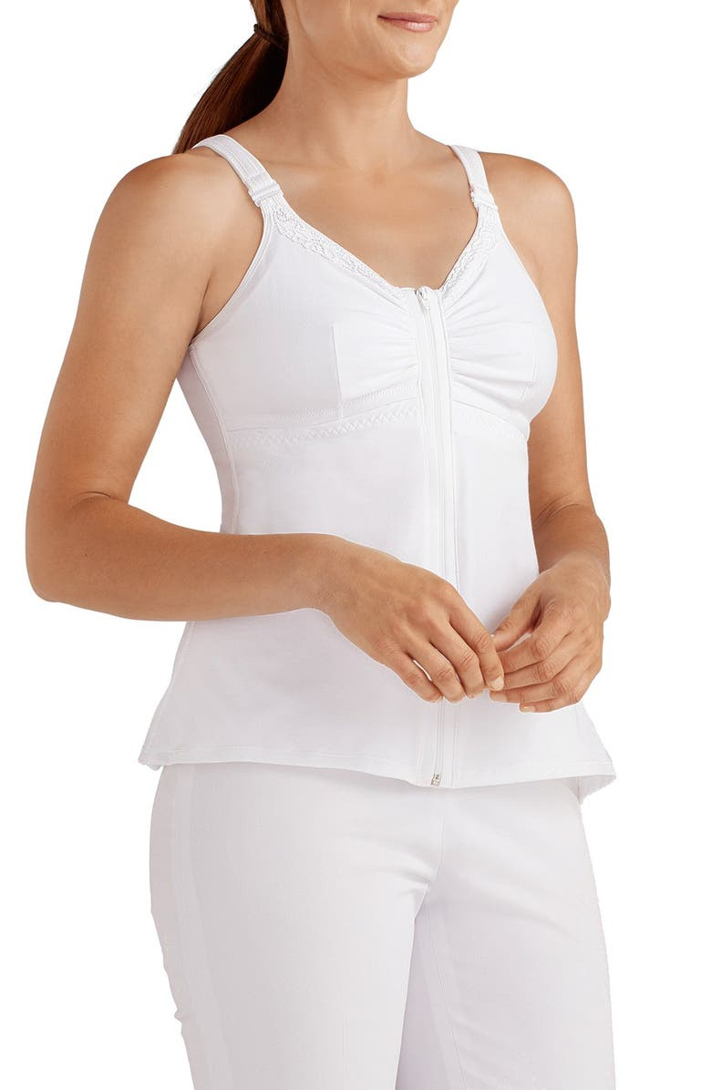 AMOENA Hannah Recovery Care Camisole, Main, color, WHITE