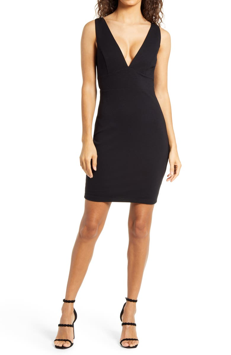 LULUS Babes & Bubbly Body-con Dress, Main, color, 001
