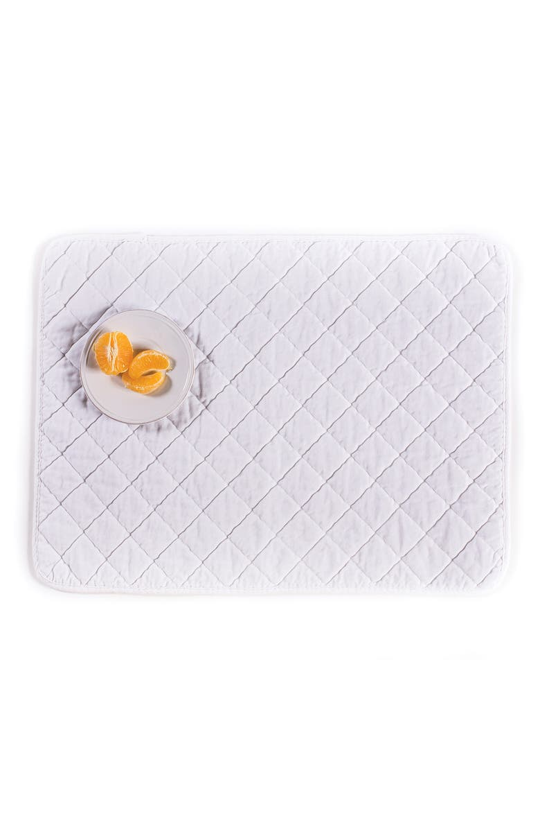 POM POM AT HOME Hampton Placemats - Set of 4, Main, color, PURE WHITE