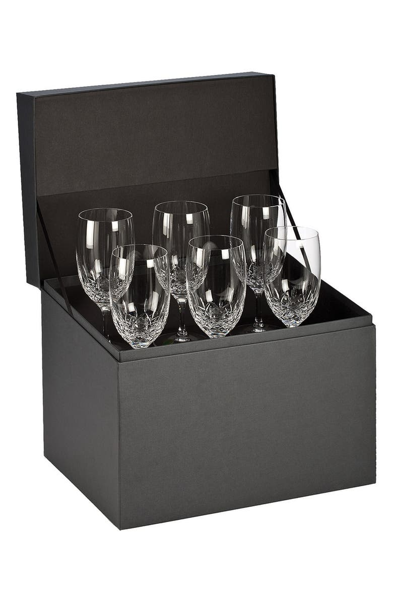 WATERFORD Lismore Essence Set of 6 Lead Crystal Iced Beverage Glasses, Main, color, 100