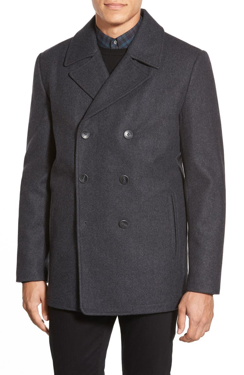 VINCE CAMUTO Classic Peacoat, Main, color, 029