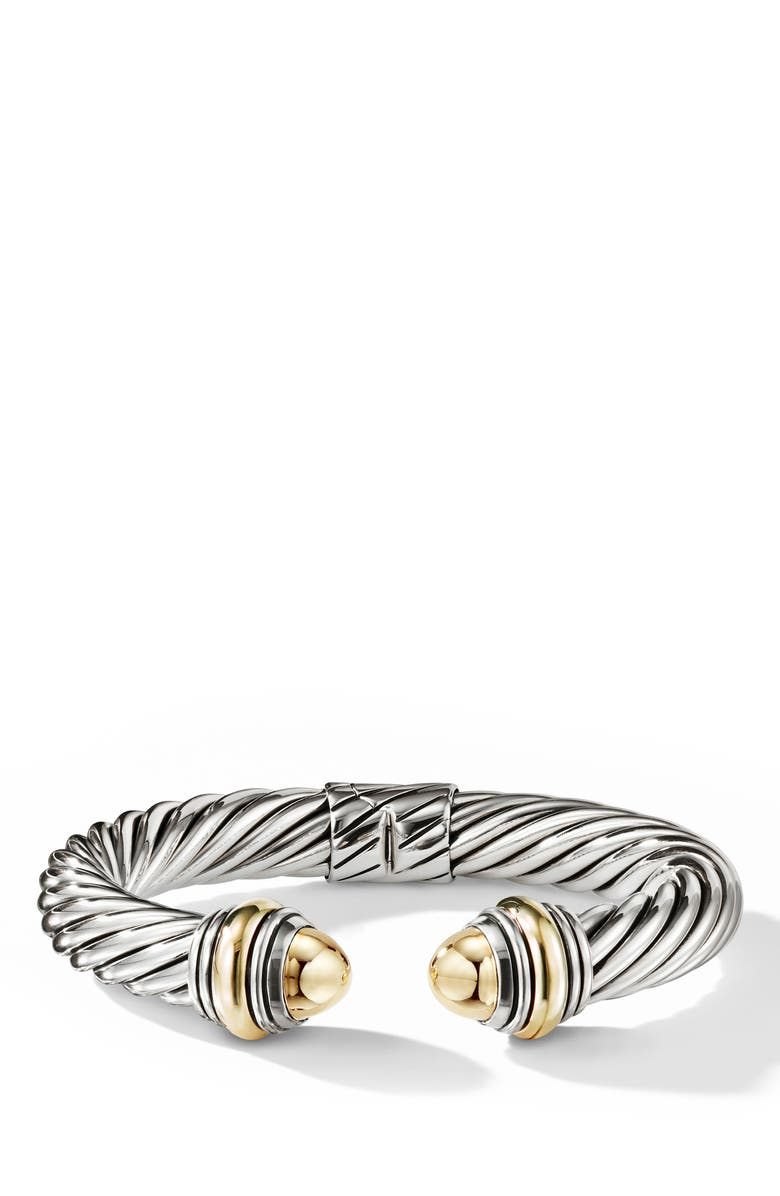 DAVID YURMAN Cable Classics Bracelet, Main, color, GOLD/ SILVER/ GOLD DOME