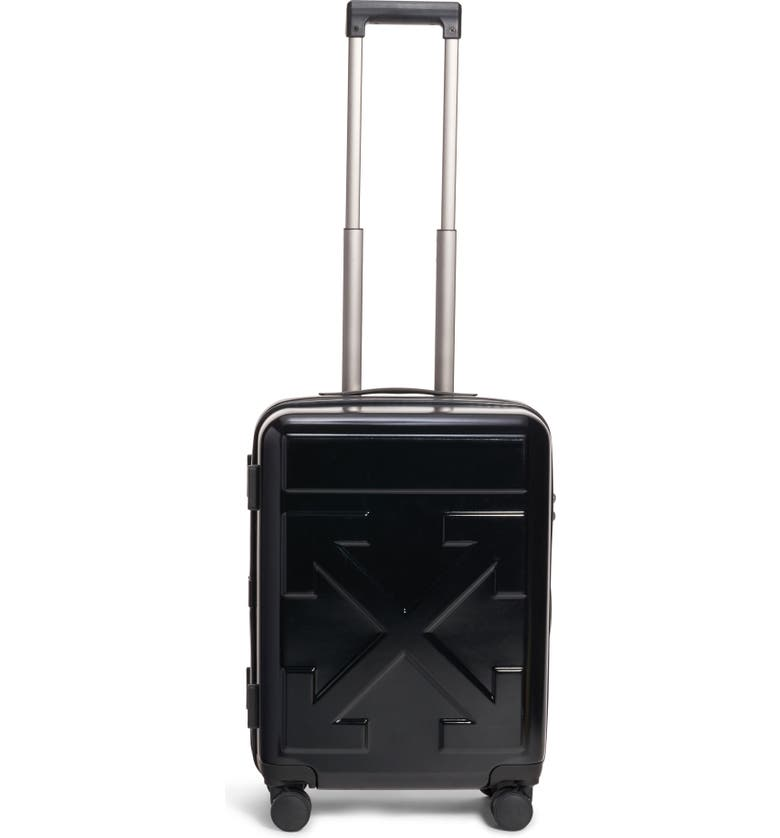 OFF-WHITE Arrow 21-Inch Hard Side Trolley Wheeled Suitcase, Main, color, 001
