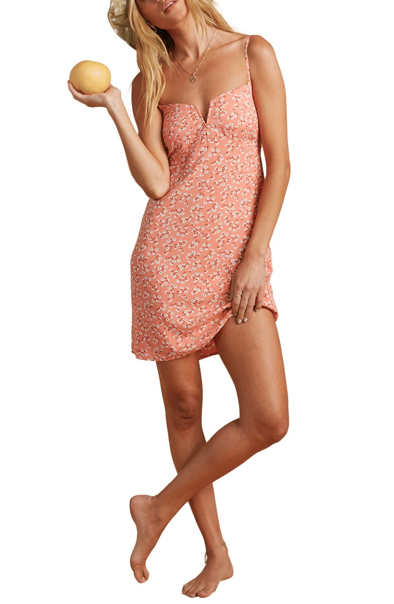 BILLABONG x The Salty Blonde Just Because Minidress, Main, color, PEACH OUT