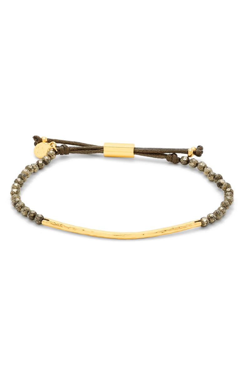 GORJANA Power Gemstone Bracelet, Main, color, STRENGTH/ PYRITE/ GOLD