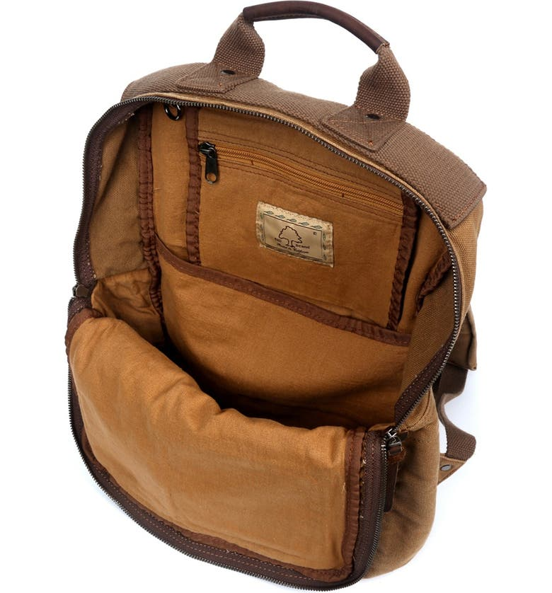 THE SAME DIRECTION Ridge Valley Canvas Backpack, Main, color, CAMEL