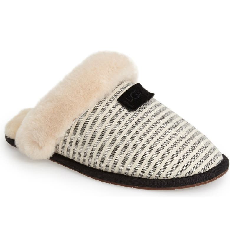 UGG<SUP>®</SUP> Australia 'Scuffette II Stripe' Slipper, Main, color, 001