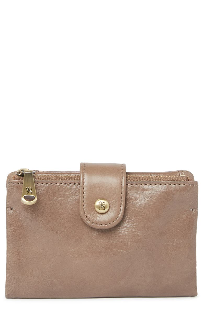 HOBO Ray Leather Bifold Wallet, Main, color, GRAVEL