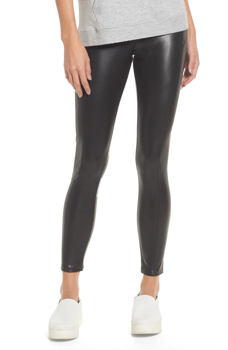 NORDSTROM Faux Leather Leggings, Main, color, 001