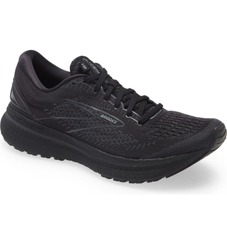 BROOKS Glycerin 19 Running Shoe, Main, color, BLACK/ EBONY