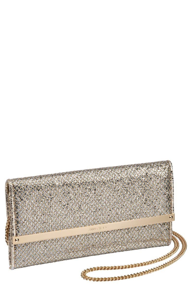 JIMMY CHOO Milla Glitter Wallet on a Chain, Main, color, 250