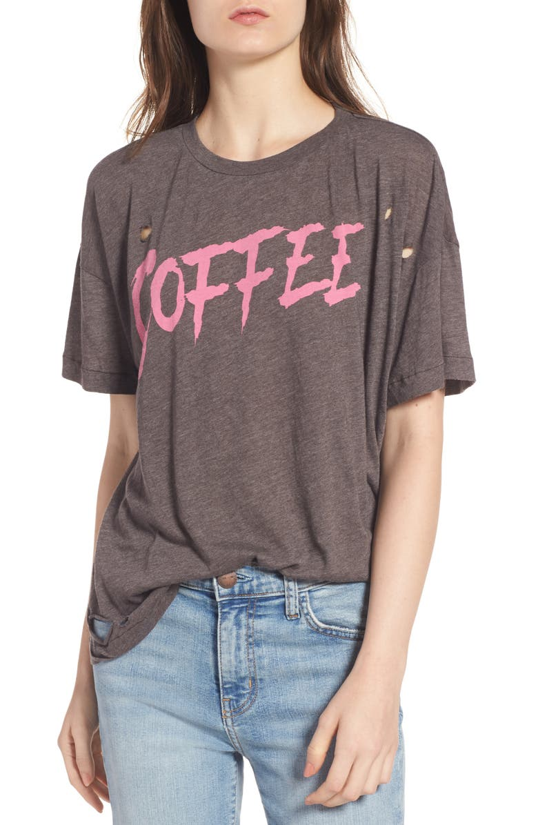 WILDFOX Coffee Destroyed Tee, Main, color, 240