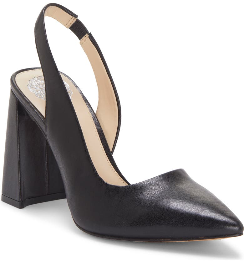 VINCE CAMUTO Analees Slingback Pump, Main, color, BLACK LEATHER