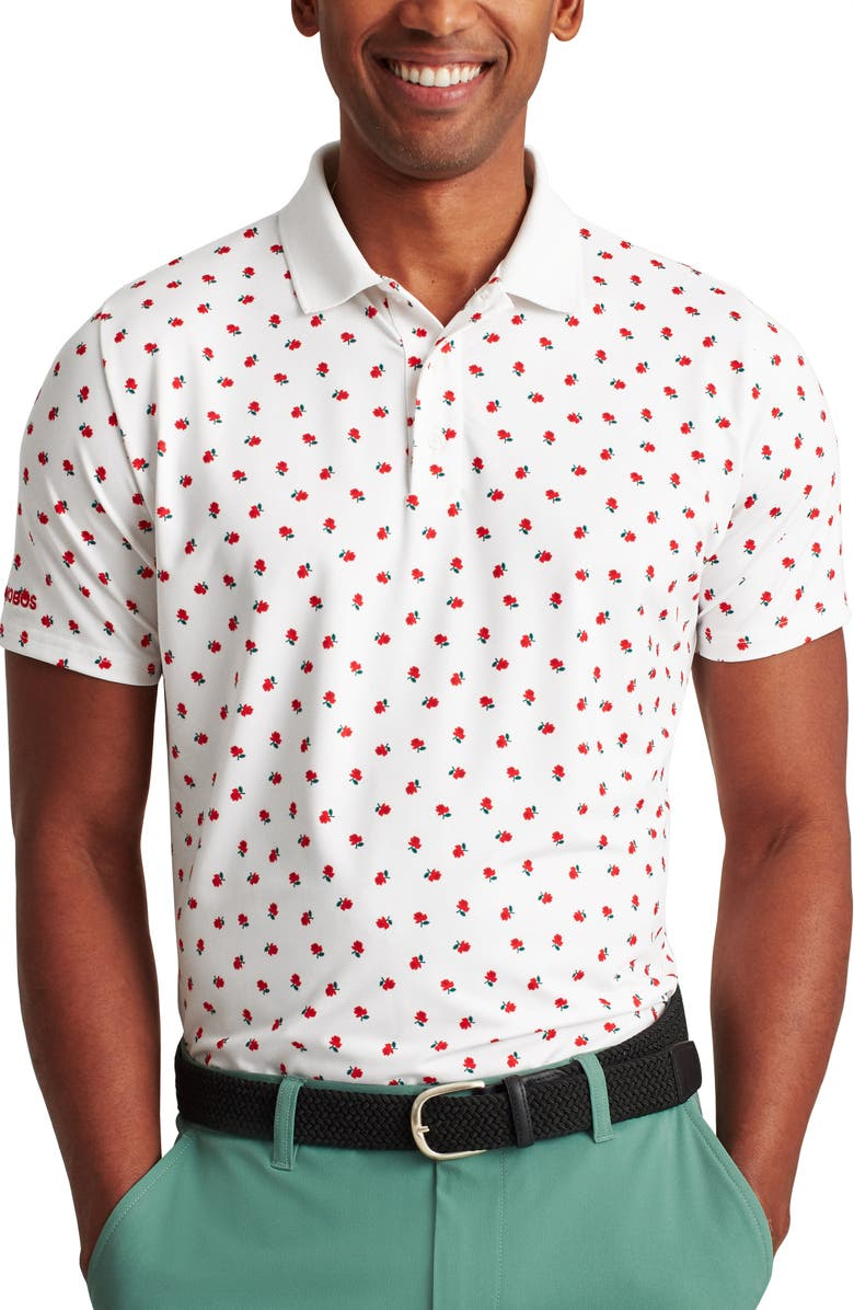 BONOBOS Justin Rose Capsule Stretch Performance Golf Polo, Main, color, NORTHPORT ROSES