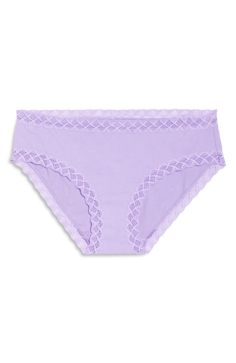 NATORI Bliss Cotton Girl Briefs, Main, color, FRENCH LILAC