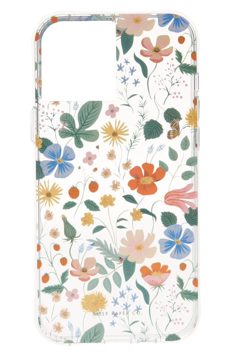 CASE-MATE<SUP>®</SUP> x Rifle Paper Co. iPhone 12/12 Pro, 12 Pro Max & 12 Mini Case, Main, color, STRAWBERRY FIELDS