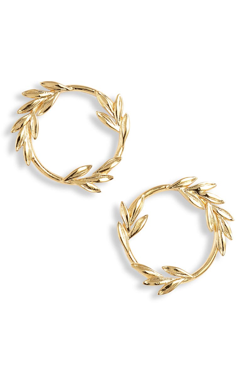 GORJANA Willow Circle Stud Earrings, Main, color, 710