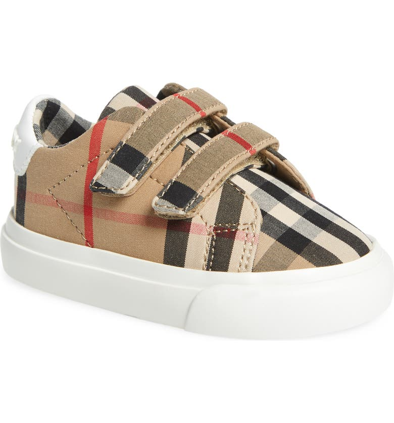 BURBERRY Vintage Check Sneaker, Main, color, OPTIC WHITE