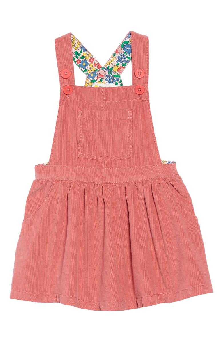 MINI BODEN Dungaree Overall Dress, Main, color, ROSE PINK
