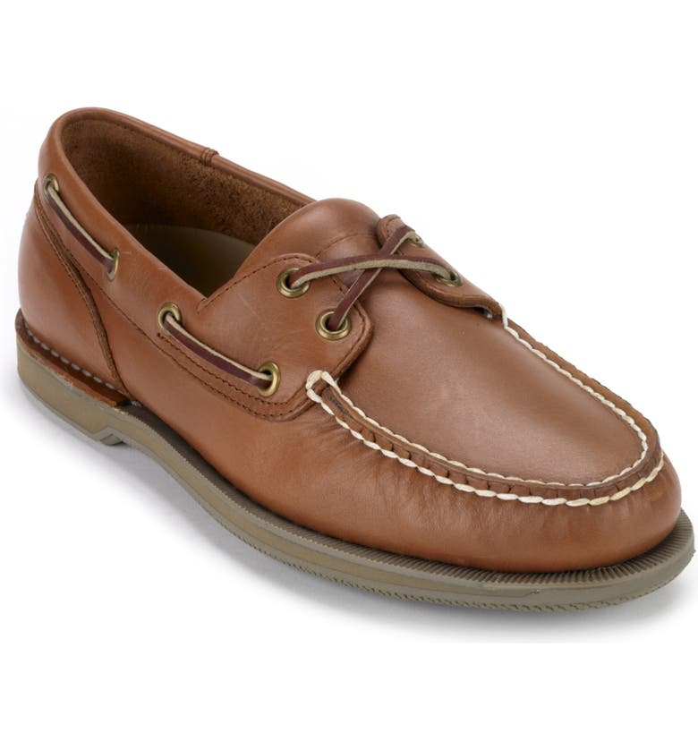 ROCKPORT 'Perth' Boat Shoe, Main, color, TOBACCO