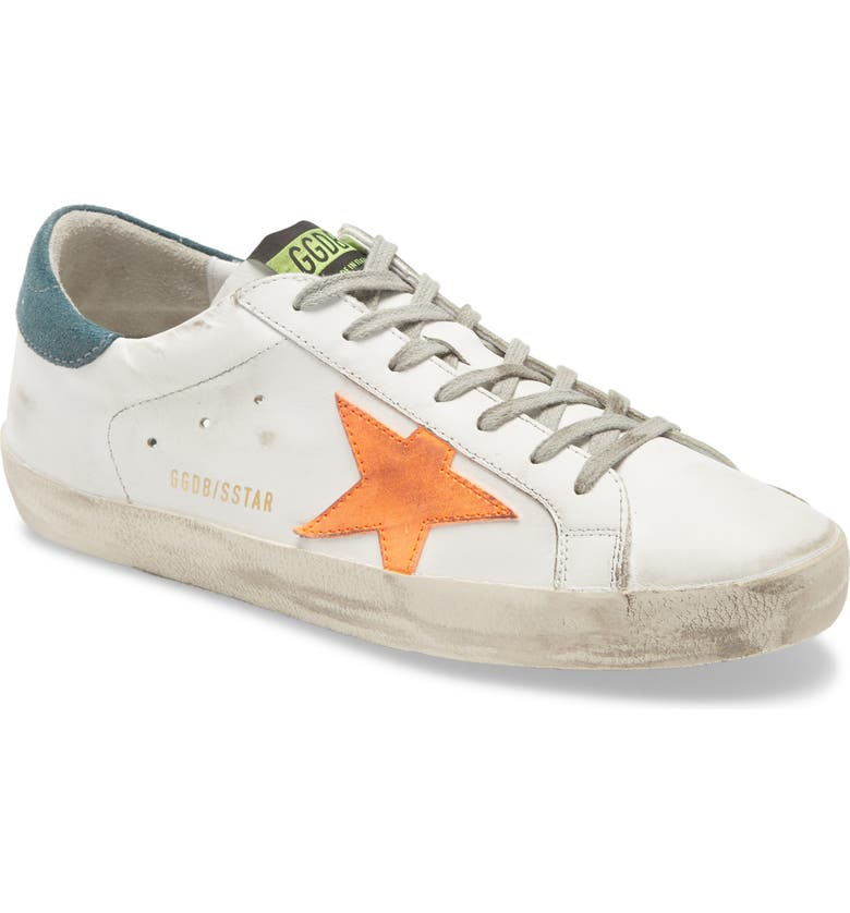 GOLDEN GOOSE Super Star Sneaker, Main, color, WHITE LEATHER/ APRICOT STAR