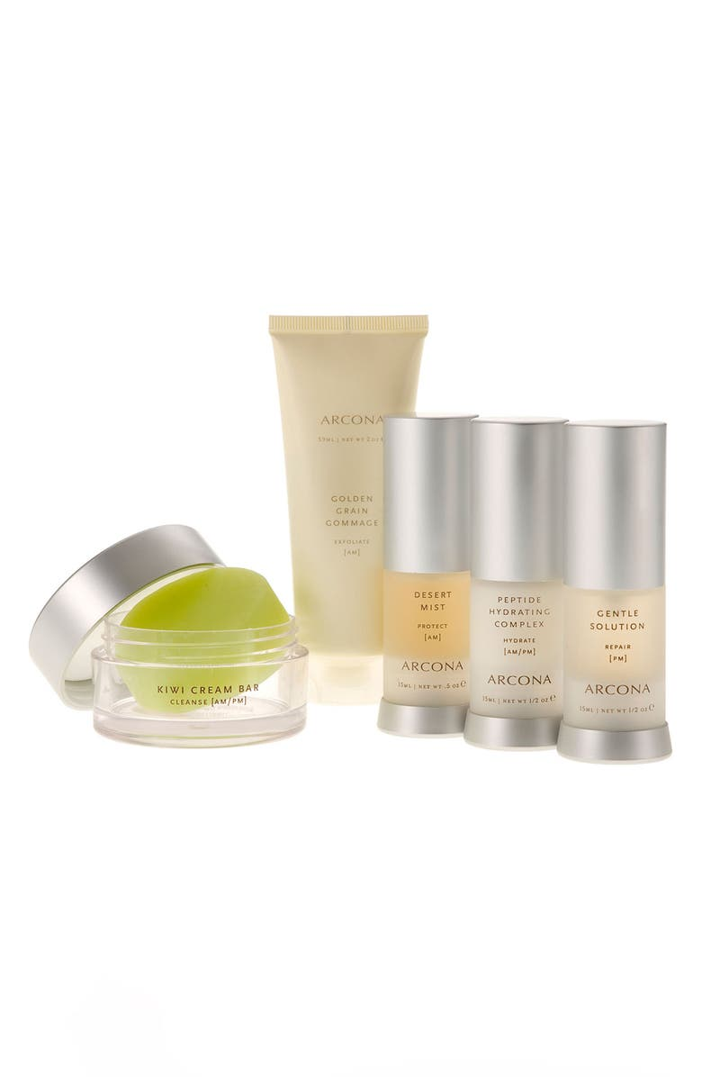 ARCONA 'Basic Five' Travel Kit for Dry Skin, Main, color, 000