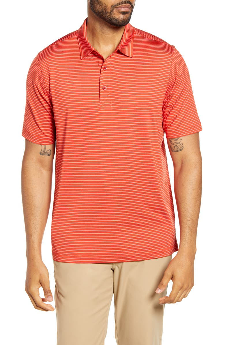 CUTTER & BUCK Forge DryTec Pencil Stripe Performance Polo, Main, color, MARS