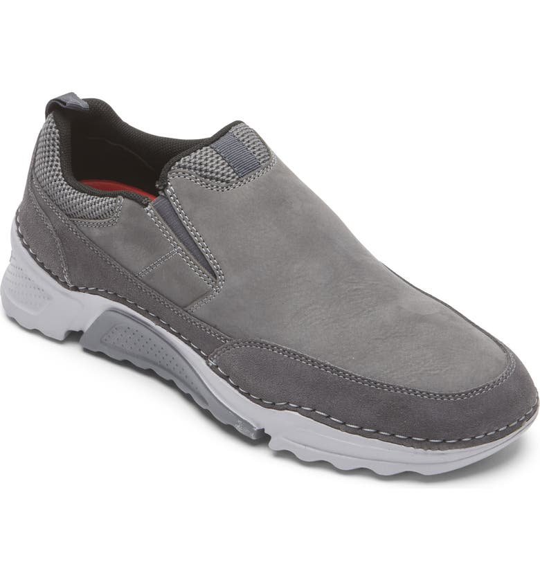 ROCKPORT Rocsports Slip-On Sneaker, Main, color, STEEL GREY LEATHER