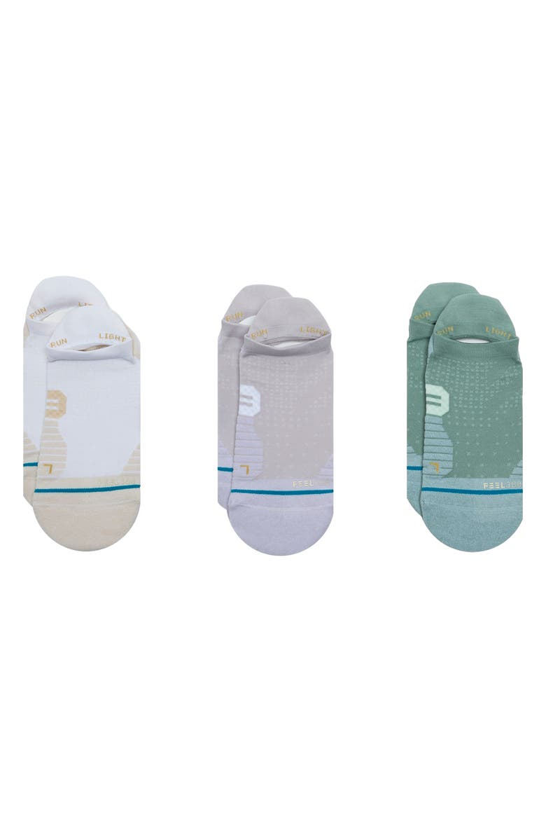 STANCE Vertical Assorted 3-Pack Tab Ankle Socks, Main, color, 005