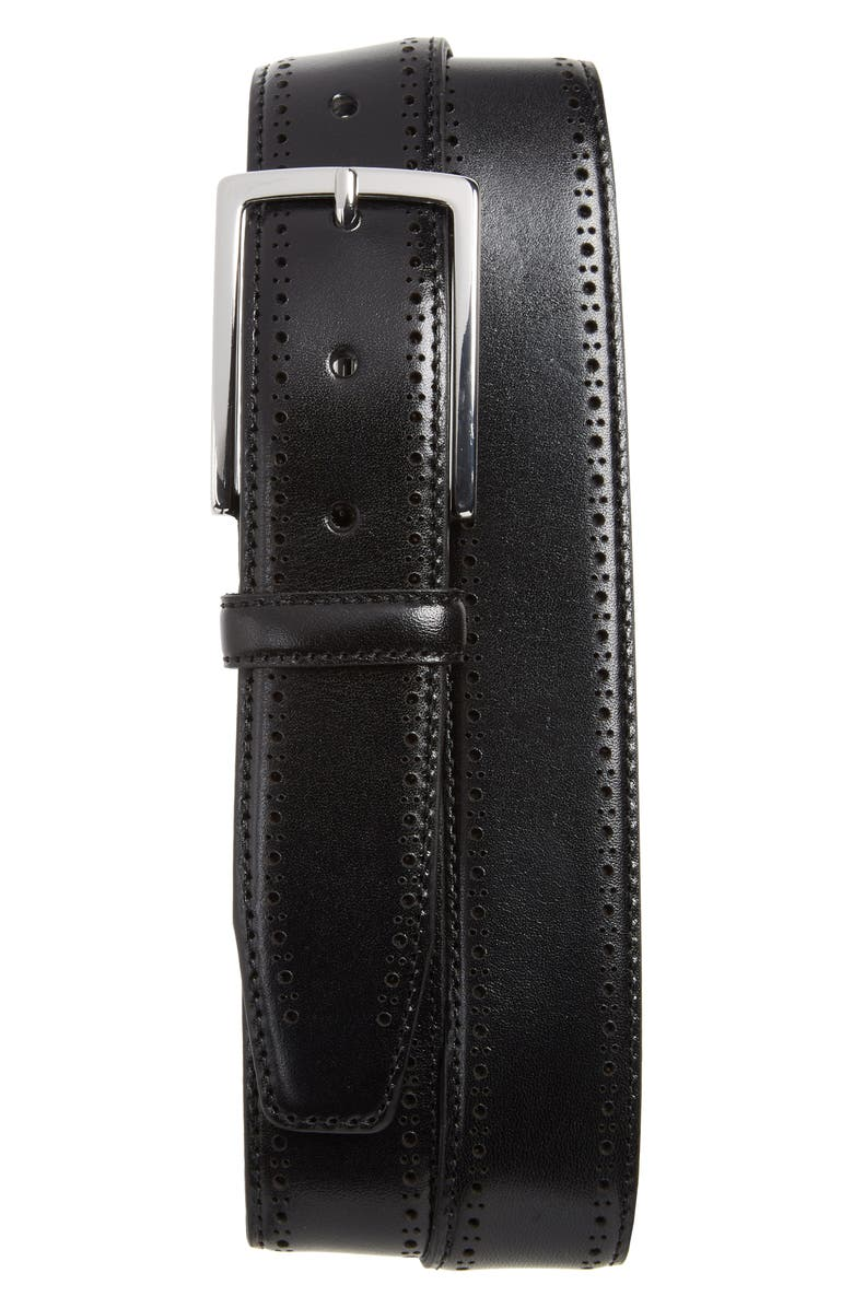 NORDSTROM Lowell Leather Belt, Main, color, 001
