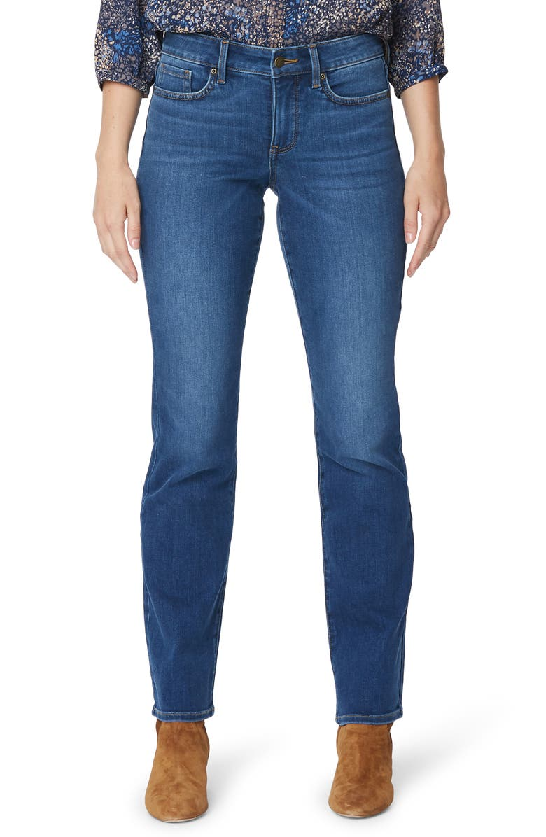 NYDJ Marilyn Stretch Straight Leg Jeans, Main, color, PRESIDIO