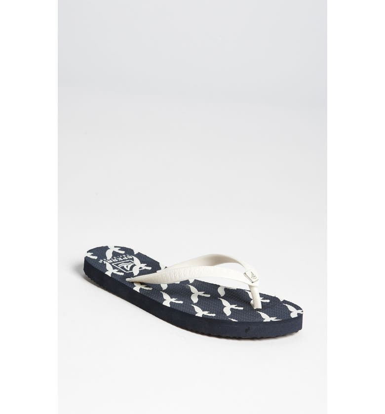 SPERRY Top-Sider<sup>®</sup> 'Seabury' Flip Flop, Main, color, WHITE/ NAVY
