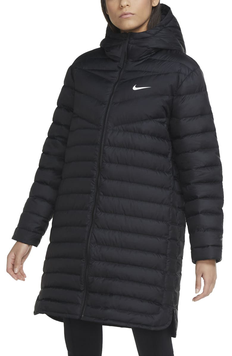 NIKE Windrunner Down Quilted Parka, Main, color, 010