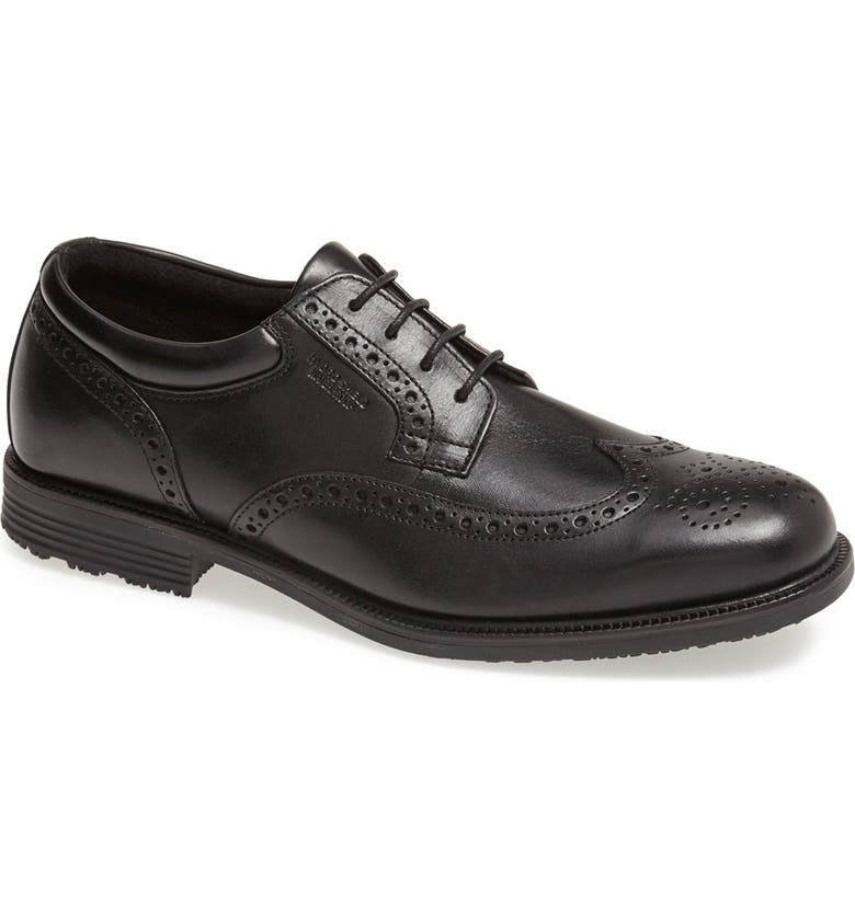 ROCKPORT 'Essential Details' Waterproof Wingtip, Main, color, Black