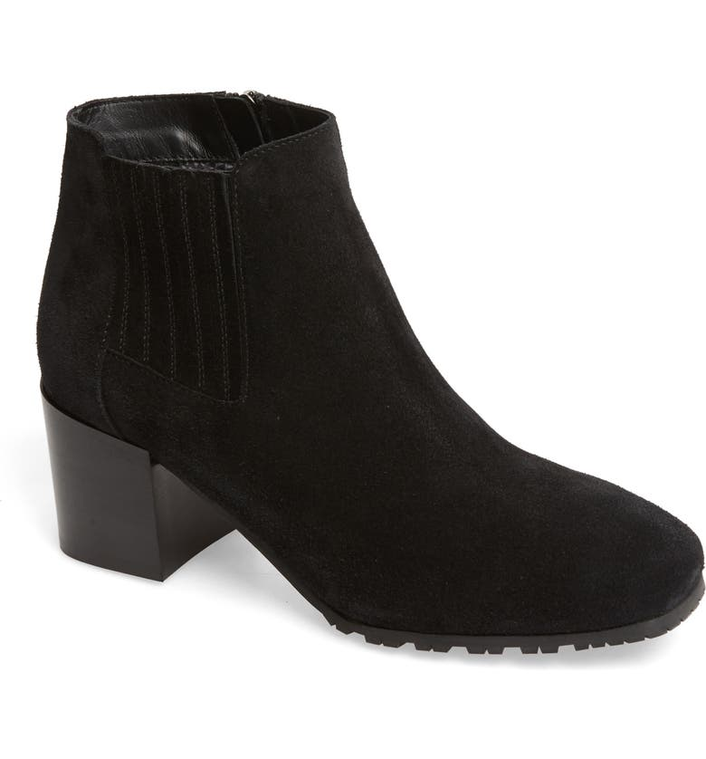 AQUATALIA Weatherproof Block Heel Bootie, Main, color, BLACK