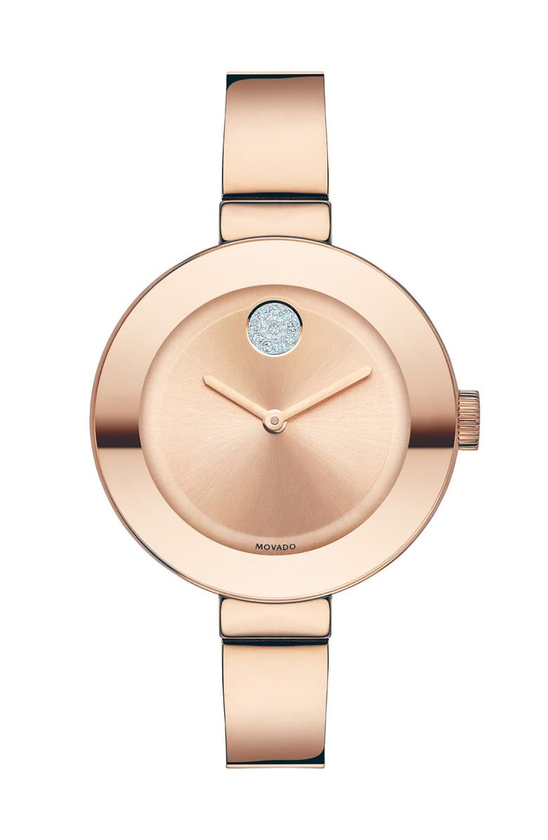 MOVADO 'Bold' Crystal Accent Bangle Watch, 34mm, Main, color, 699