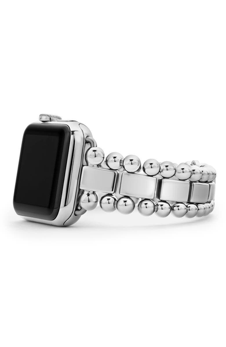 LAGOS Smart Caviar Stainless Steel Link Band for Apple Watch<sup>®</sup>, Main, color, Silver