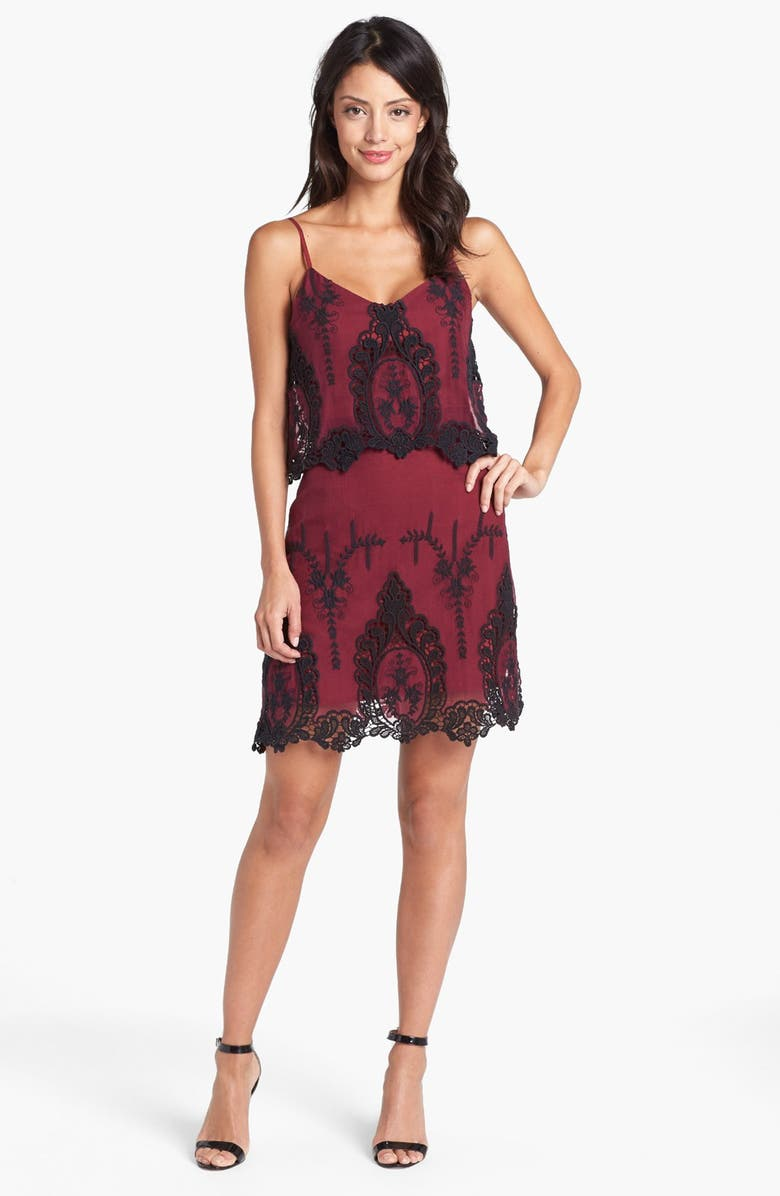 DOLCE VITA Tiered Crinkled Silk Dress, Main, color, 935