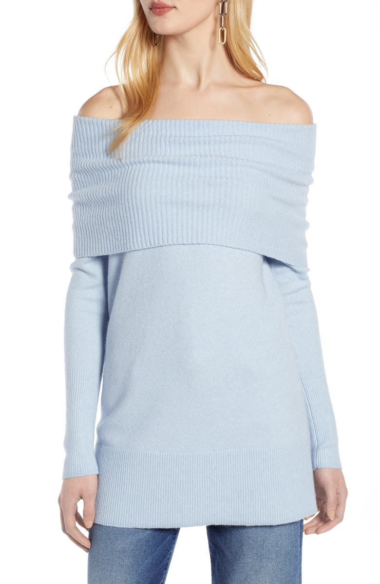 HALOGEN<SUP>®</SUP> Convertible Neck Sweater, Main, color, 420