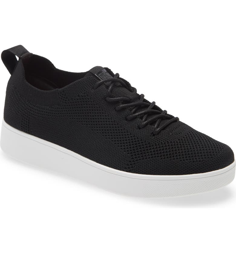 FITFLOP Rally Tonal Knit Sneaker, Main, color, BLACK