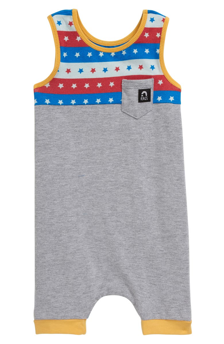 RAGS Stars & Stripes Tank Romper, Main, color, 020