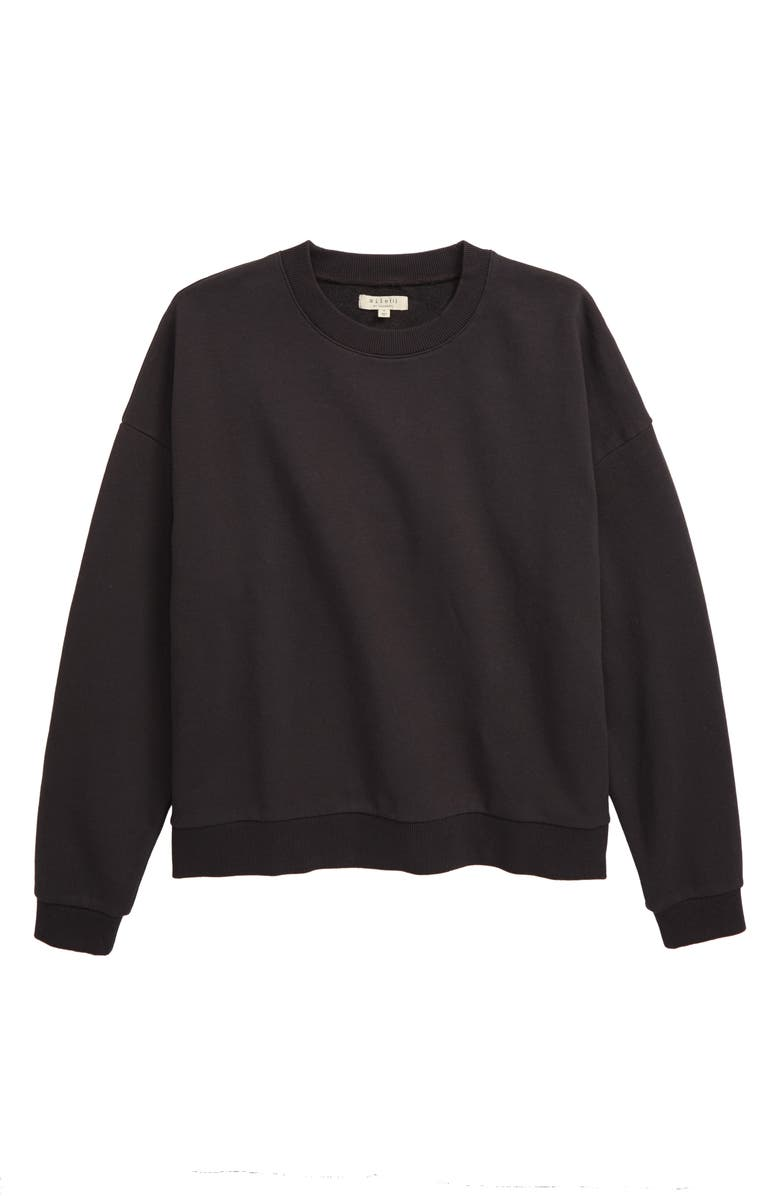 MADEWELL Recycled Cotton Oversize Sweatshirt, Main, color, 001