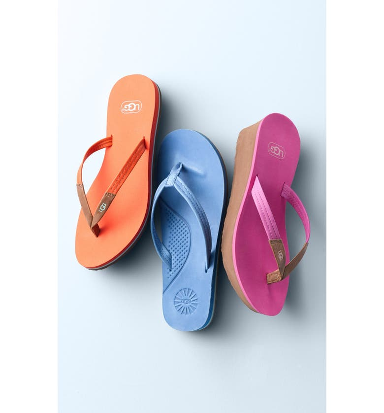 UGG<SUP>®</SUP> 'Magnolia' Flip Flop, Main, color, WHITE WALL LEATHER