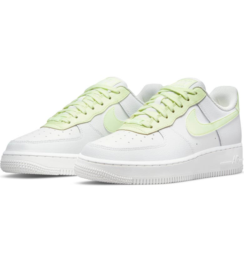 NIKE Air Force 1 '07 Sneaker, Main, color, SUMMIT WHITE/ LIME ICE/ SUMMIT