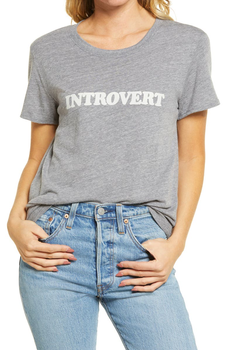 SUB_URBAN RIOT Introverted Graphic Tee, Main, color, HEATHER GREY