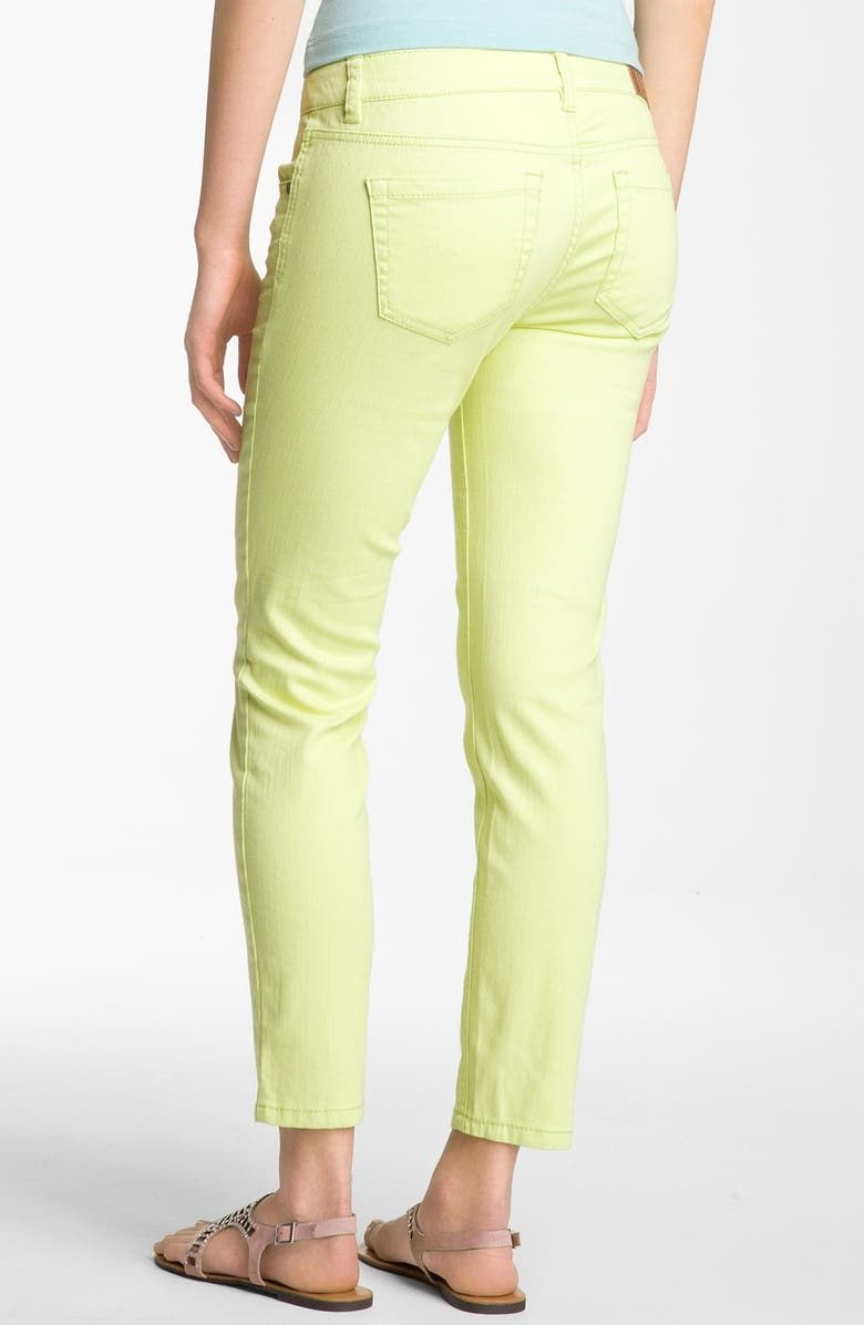 LOVE, FIRE Fire Color Skinny Ankle Jeans, Main, color, 338