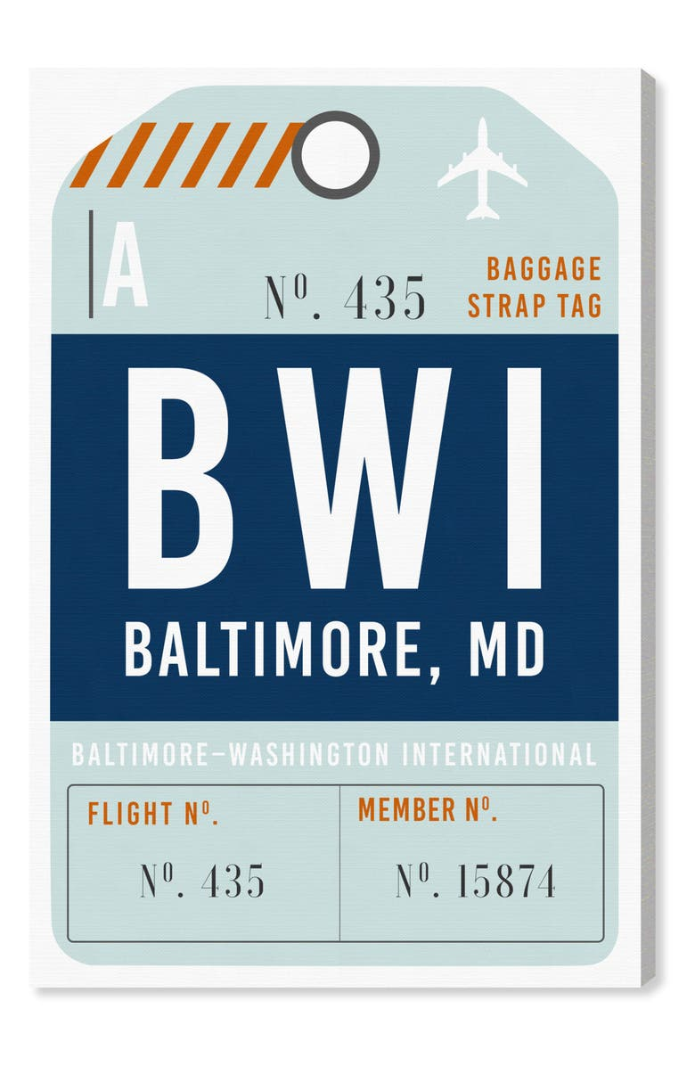 OLIVER GAL Baltimore Luggage Tag Wall Art, Main, color, 400